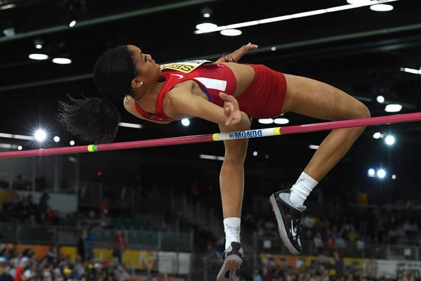 Vashti Cunningham at the IAAF World Indoor Championships Portland 2016 (Getty Images)