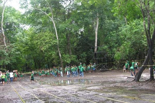 The improvised athletics stadium in the heart of the Amazon region of Brazil (Nick Davies)