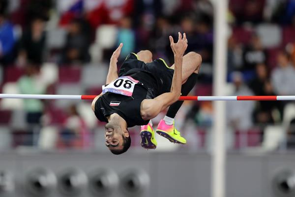 Majd Eddin Ghazal taking the Asian title in Doha (AFP/Getty Images)