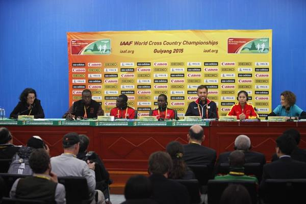 Athletes' press conference - IAAF World Cross Country Championships, Guiyang 2015 (Getty Images)