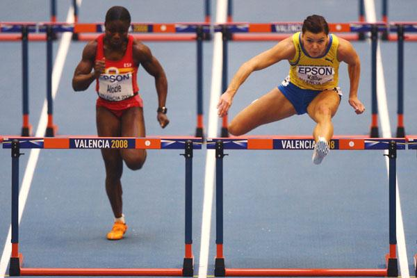 Susanna Kallur wins her 60m hurdles heat with ease (Getty Images)
