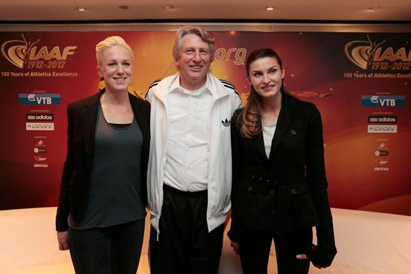 Kajsa Bergqvist, Dick Fosbury and Anna Chicherova in Barcelona (Emilio Andreoli)
