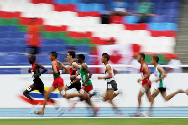 1500m runners on the first morning of the IAAF World Youth Championships, Cali 2015 (Getty Images)