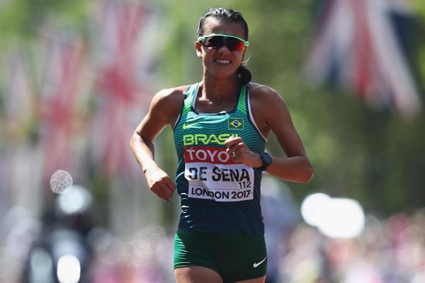 Erica de Sena in the 20km race walk at the IAAF World Championships London 2017 (Getty Images)