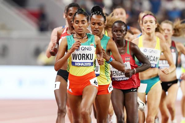 Fantu Worku at the IAAF World Athletics Championships Doha 2019 (Getty Images)