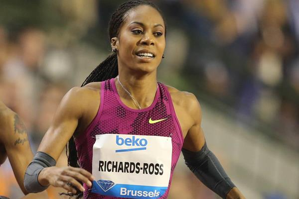 Sanya Richards-Ross winning the 400m at the 2014 IAAF Diamond League final in Brussels (Gladys von der Laage)