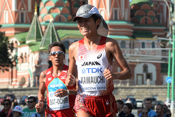 Yuki Kawauchi in the marathon at the IAAF World Championships (AFP / Getty Images)