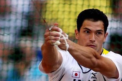 Koji Murofushi of Japan finishes third in the men's hammer throw (Getty Images)