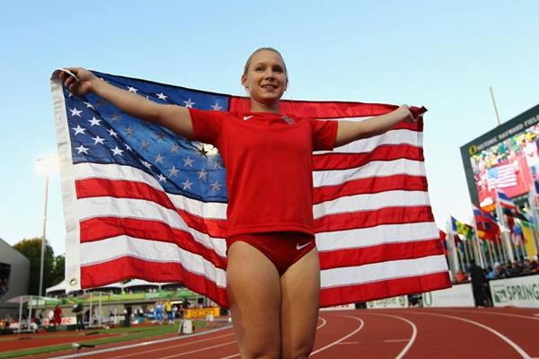 Pole vault silver medallist Desiree Freier at the IAAF World Junior Championships, Oregon 2014 (Getty Images)