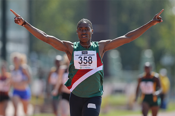 Caster Semenya in action at the South African Championships in Stellenbosch (Roger Sedres)