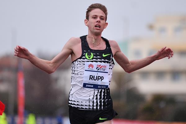 Galen Rupp wins the 2018 Roma-Ostia Half Marathon (organisers)
