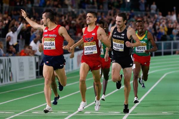 Matt Centrowitz wins the 1500m at the IAAF World Indoor Championships Portland 2016 (Getty Images)