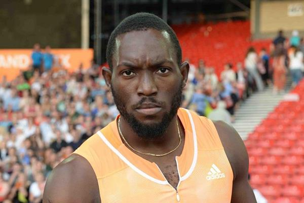 Nickel Ashmeade after winning the 100m at the 2014 IAAF Diamond League in Glasgow (Jiro Mochizuki)
