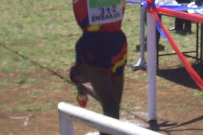 John Cheruiyot Korir finishing second at the Kenyan Armed Forces Championships (Omulo Okoth)