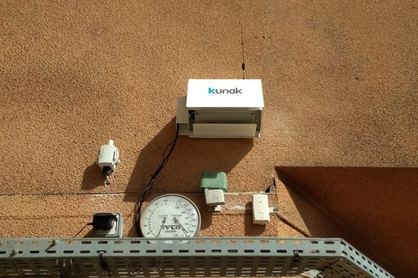 The air quality monitoring device in Monaco's Stade Louis II (Herculis)