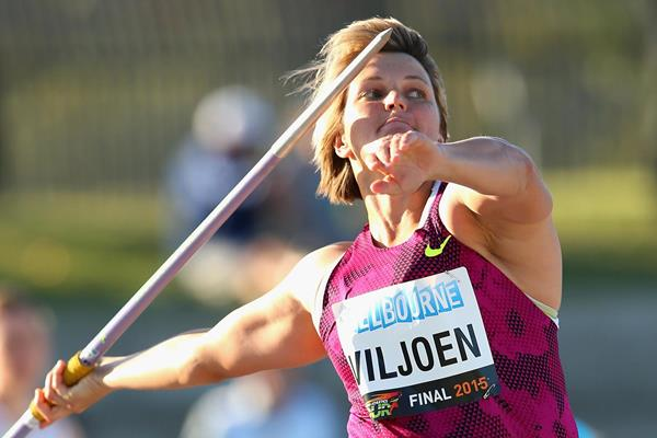 Sunette Viljoen, winner of the javelin in Melbourne (Getty Images)
