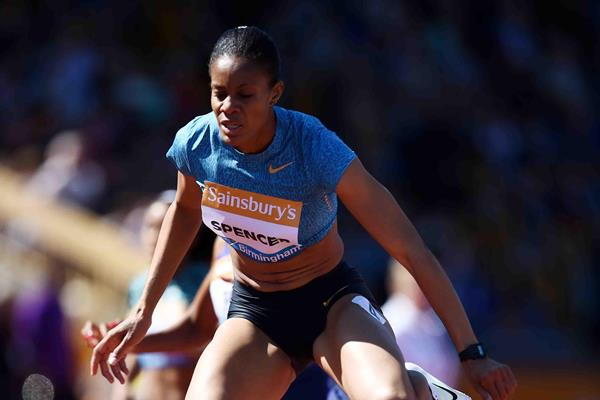 Kaliese Spencer at the 2015 IAAF Diamond League in Birmingham (Jean-Pierre Durand)