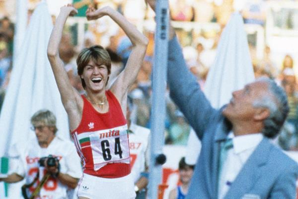 Stefka Kostadinova, winner of the high jump at the 1987 IAAF World Championships in Rome (Getty Images)