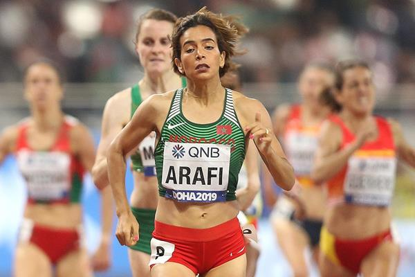 Rababe Arafi at the IAAF World Athletics Championships Doha 2019 (Getty Images)