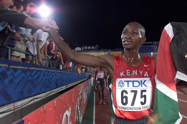 10000m Final - Charles Kamathi (© Allsport)