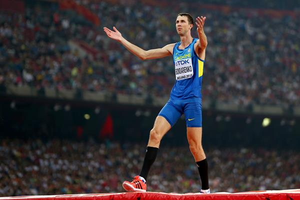Bogdan Bondarenko in the high jump at the IAAF World Championships, Beijing 2015 (Getty Images)