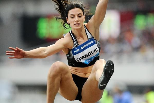 Ivana Spanovic at the 2016 IAAF Diamond League in Shanghai (Errol Anderson)