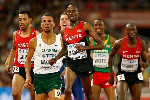 Elijah Manangoi in the 1500m at the IAAF World Championships, Beijing 2015 (Getty Images)