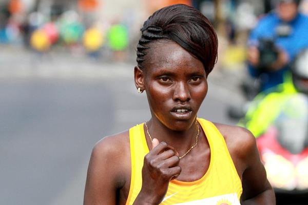 Purity Rionoripo at the 2016 Bogota Half Marathon (Organisers / Victah Sailer)