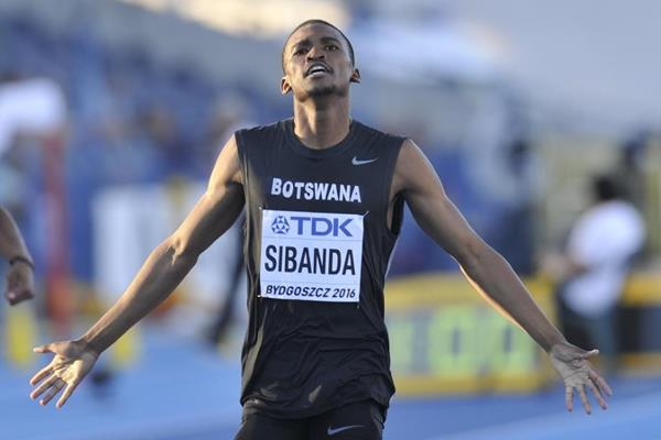 Karabo Sibanda in the 400m at the IAAF World U20 Championships Bydgoszcz 2016 (Getty Images)