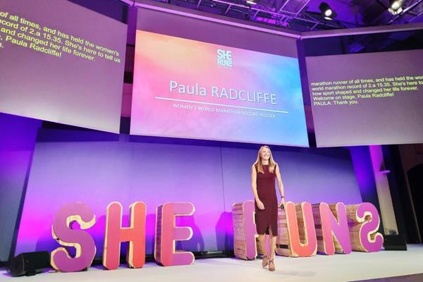 Paula Radcliffe at the 'She Runs - Active Girls' Lead' event in Paris (Organisers)