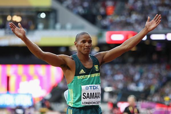 Ruswahl Samaai at the IAAF World Championships London 2017 (Getty Images)