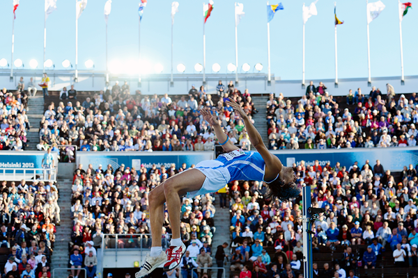 Gianmarco Tamberi at the 2012 European Championships (AFP / Getty Images)