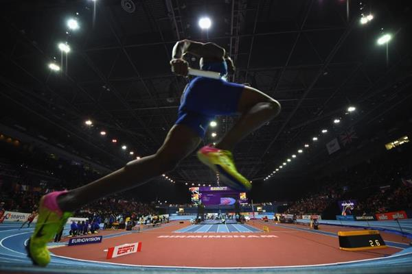 The men's 4x400m at the IAAF World Indoor Championships Birmingham 2018 (Getty Images)