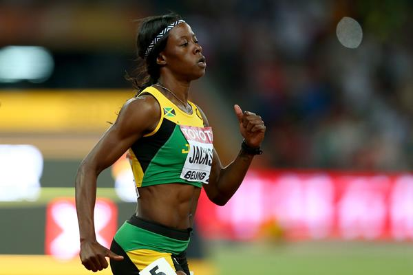 Shericka Jackson in the 400m at the IAAF World Championships, Beijing 2015 (Getty Images)
