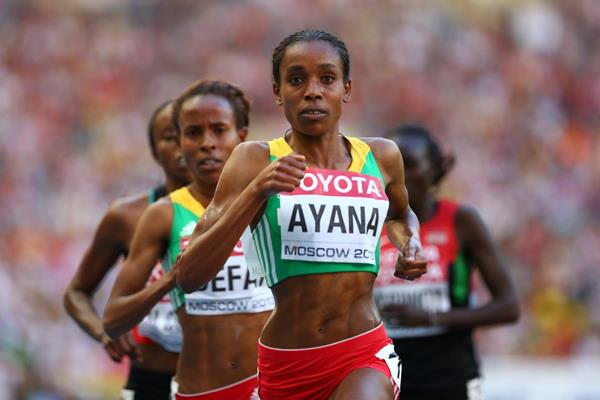 Almaz Ayana in the 5000m at the 2013 IAAF World Championships (Getty Images)