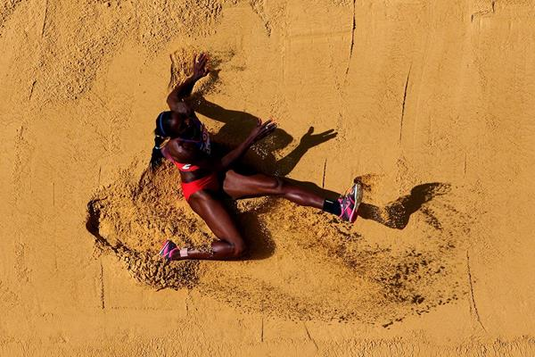 Caterine Ibarguen in the womens Triple Jump qualifications at the IAAF World Championships Moscow 2013 (Getty Images)