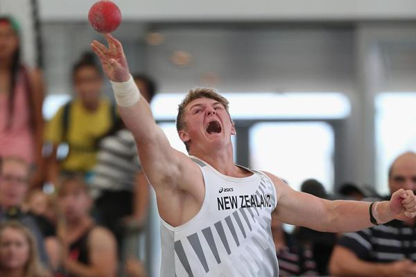 New Zealand shot putter Matt Bloxham (Getty Images)