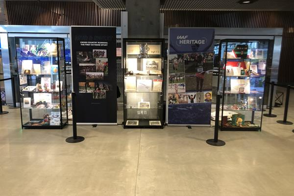 Display cabinets - IAAF Heritage Cross Country Display - 1819 to 2019 - Aarhus, Denmark (IAAF)