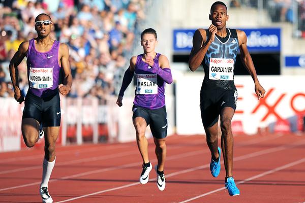 Steven Gardiner wins the 400m at the IAAF Diamond League meeting in Oslo (Mark Shearman)