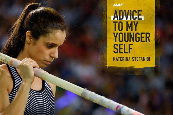 Greek pole vaulter Katerina Stefanidi (AFP / Getty Images)