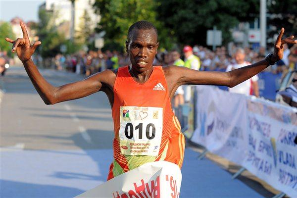Bonface Kirui of Kenya after his dominating victory at the Vidovdan 10Km Road Race (Organisers)