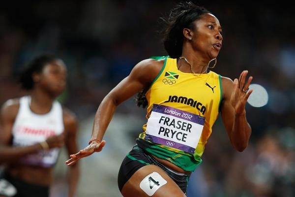 Shelly-Ann Fraser-Pryce in the 200m at the London 2012 Olympic Games (Getty Images)