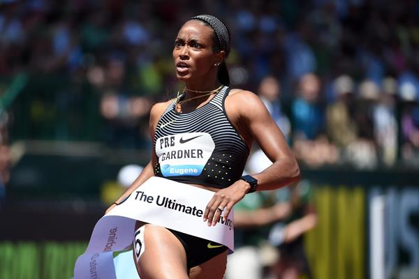 English Gardner At The 2016 IAAF Diamond League Meeting In Eugene (Kirby  Lee)