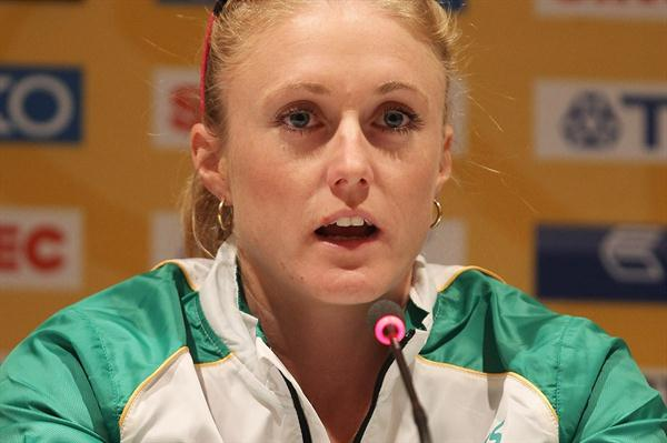 Sally Pearson in Istanbul on the eve of her first World Indoor Championships (Getty Images)