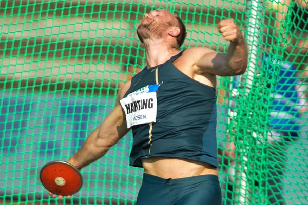 Robert Harting, winner of the discus in Hengelo (Erik van Leeuwen)