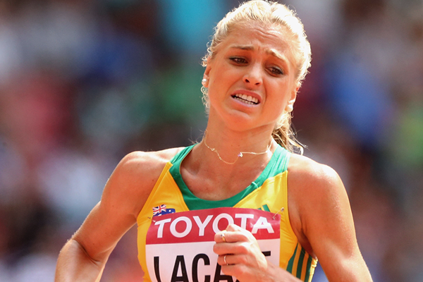 Australia's Genevieve Lacaze in the steeplechase at the IAAF World Championships Beijing 2015 (Getty Images)