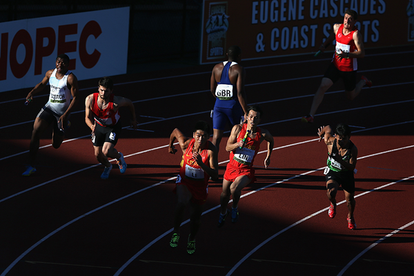 The men's 4x100m at the IAAF World Junior Championships (Getty Images)