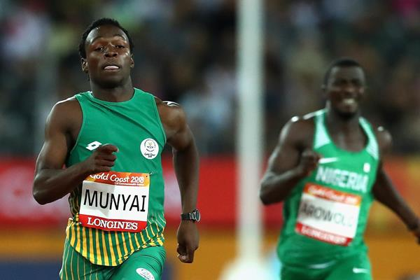 Clarence Munyai at the Commonwealth Games (Getty Images)
