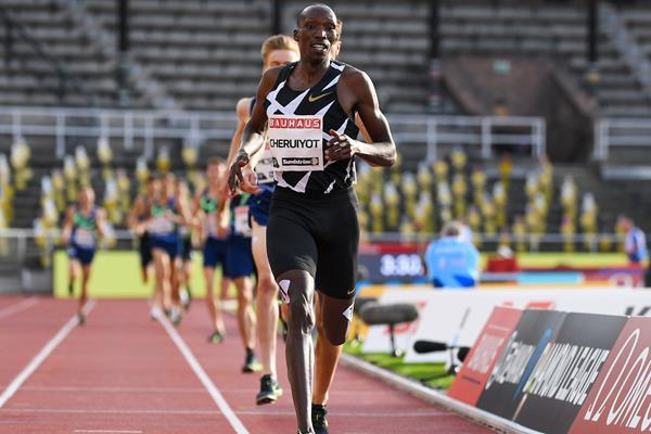 Timothy Cheruiyot wins the 1500m at the Diamond League meeting in Stockholm (AFP / Getty Images)