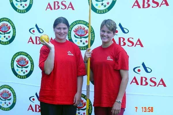 Maranelle du Toit (left) and Sunette Viljoen (right ) of South Africa (Mark Ouma)